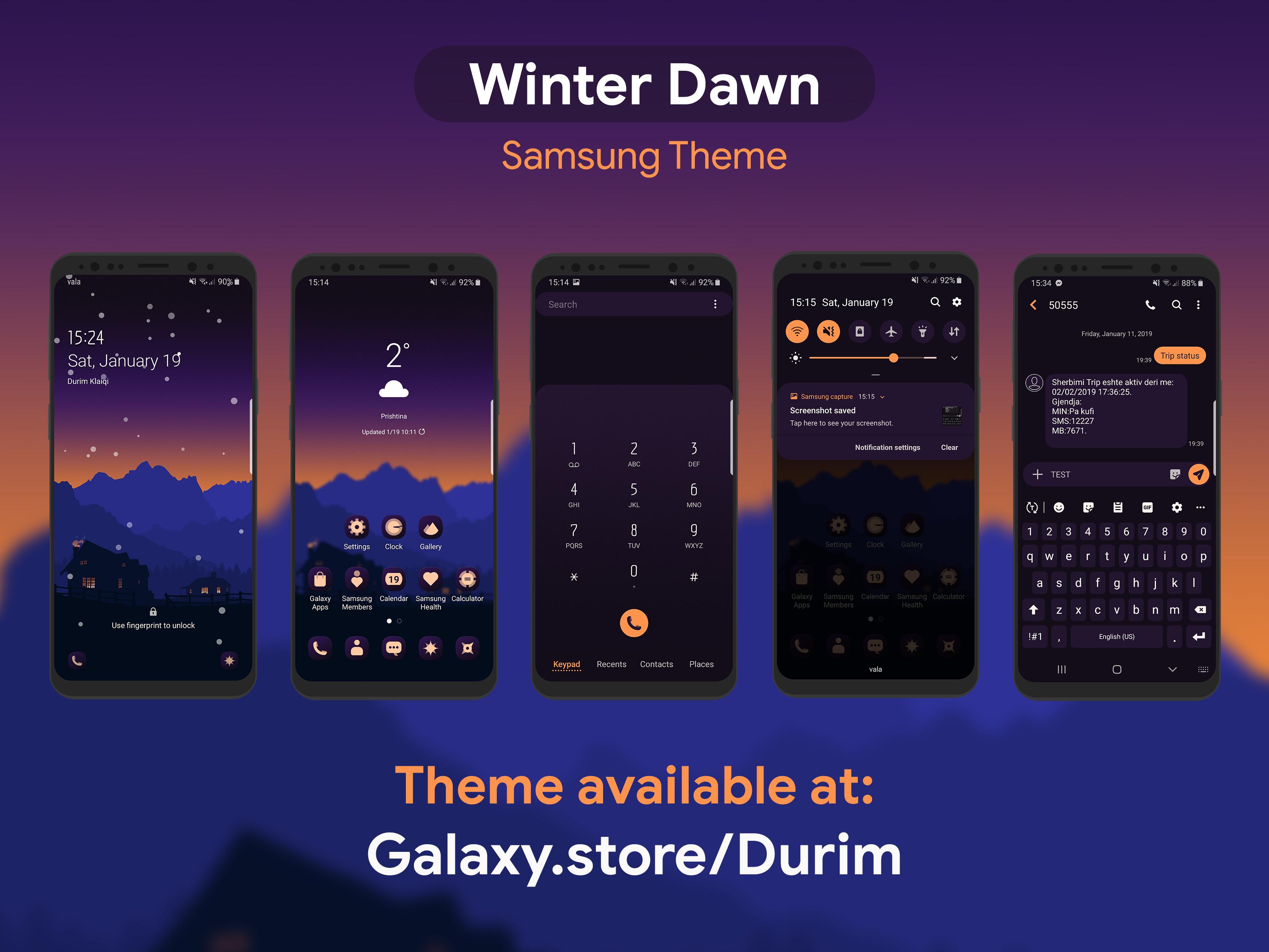 Winter Dawn Samsung Theme By Durim Klaiqi On Dribbble