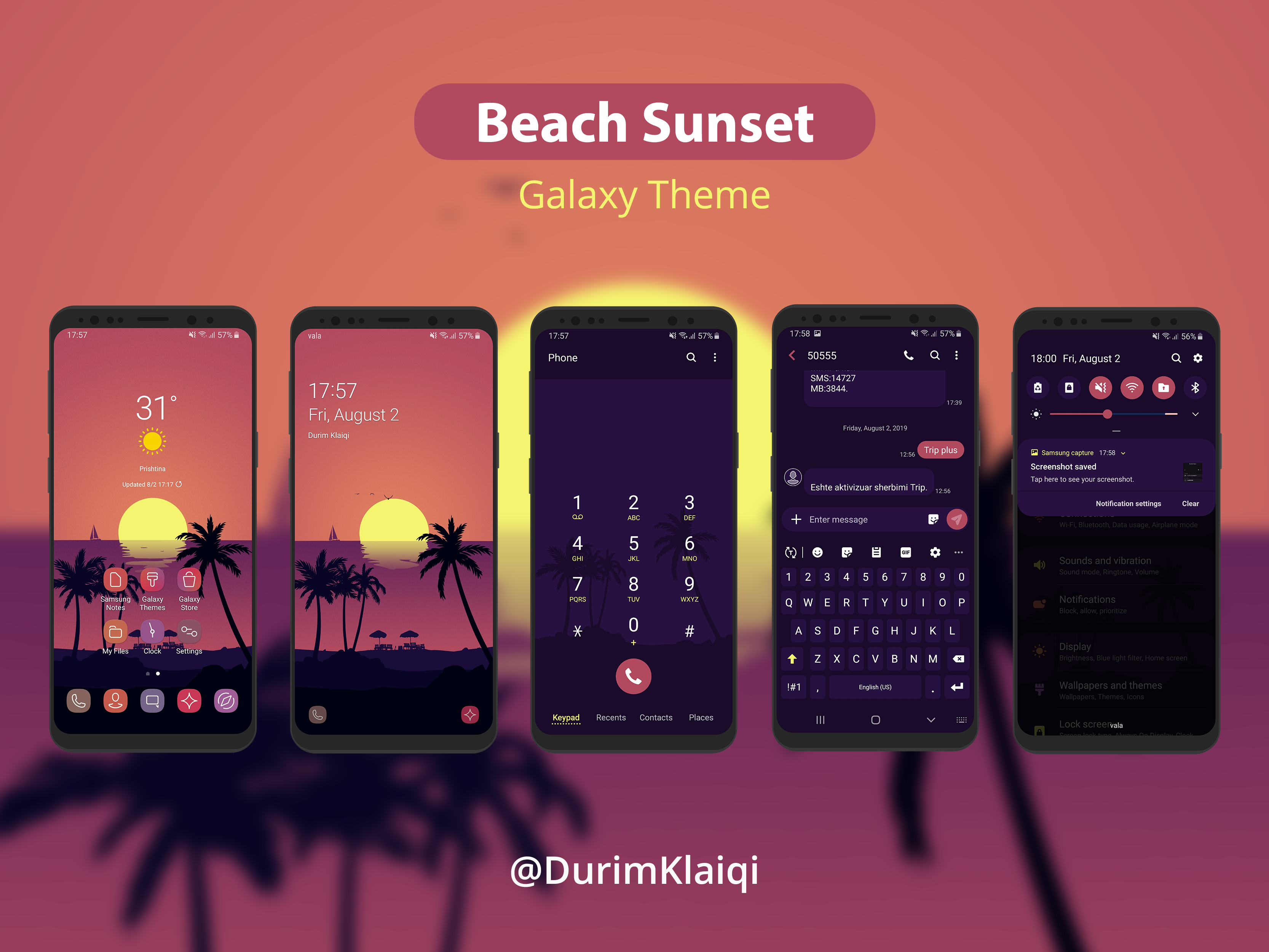 Beach Sunset Samsung Galaxy Theme By Durim Klaiqi On Dribbble