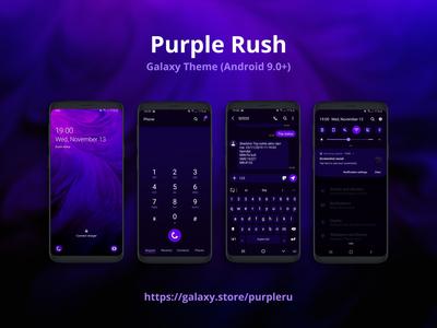 Purple Rush | Samsung Galaxy Theme