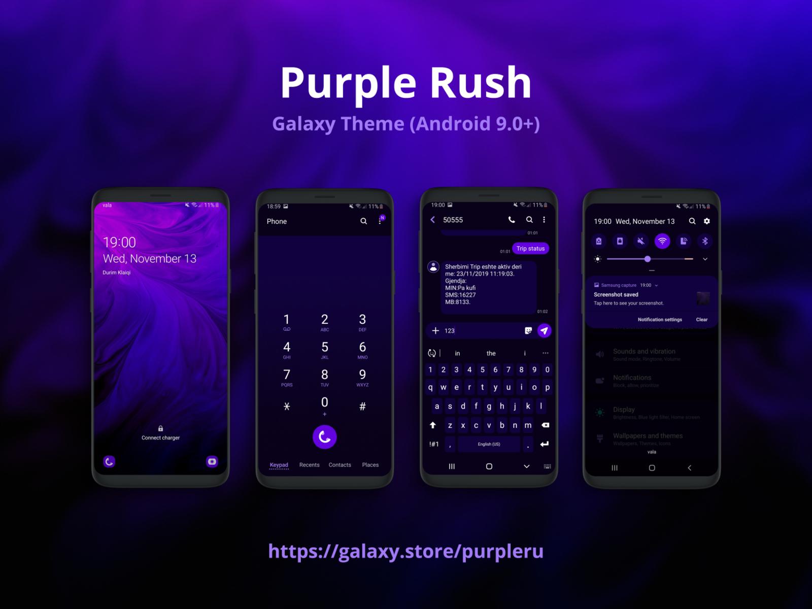 Purple Rush Samsung Galaxy Theme By Durim Klaiqi On Dribbble