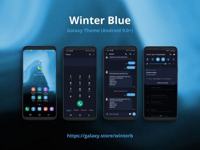 Winter Blue | Samsung Galaxy Theme