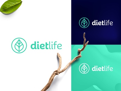 Diet life Logo awareness lifestyle brand icon green food healthy life diet nutrition identity logo design logo graphic design flat design branding brand design branddesign brand