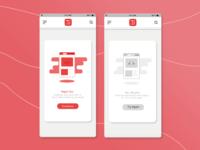News App Flash Cards UI