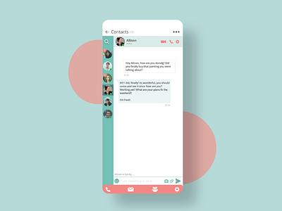 Direct Messaging UI messages messages app direct messaging dms iphone ui app design