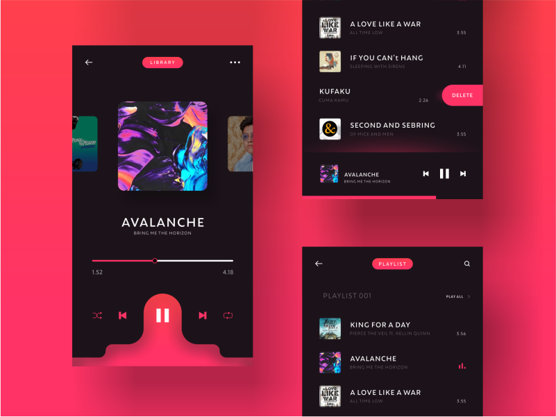 Daily Ui Challenge 009   Music Player music player music app app interface dailui ui ux daily ui challange ui design graphic  design design ui