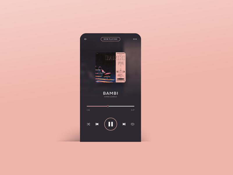Daily Ui Challenge 006   Music Player 2 music player app interface ui design graphic  design design ui