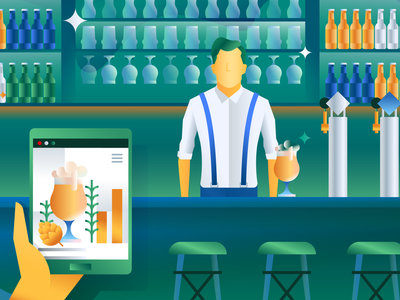 Heineken dutch storytelling graphic design flatdesign drawing vector artwork illustrator illustration character campaign drink tap beer heineken