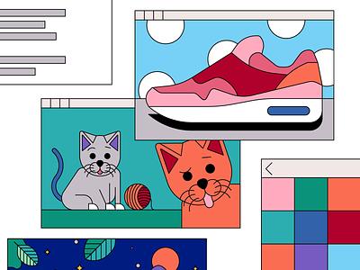 Spielwork - illustration detail cats cat creative storytelling digital art digital nike flatdesign drawing vector artwork illustrator illustration animation