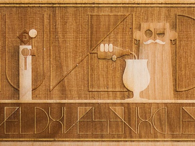 Duvel Collection campaign drawing sketch design creative craft handmade storytelling vector artwork illustrator illustration laser engraved engrave lasercut laser wooden character design character duvel