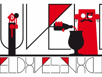 Duvel Collection poster duvel beer character design branding type storytelling concept agency typography design campaign flatdesign sketch drawing graphic design vector illustrator artwork illustration