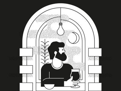 Duvel Collection II dribbble beard moon adobe light bar image icon character character design illustrator illustration beer glass product design cheers