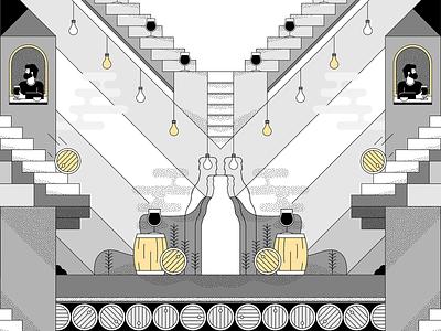 Duvel Collection II dribbble icon pattern identity branding brand beer duvel flatdesign storytelling campaign creative poster sketch drawing graphic design vector illustrator artwork illustration