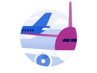 Schiphol Airport icon design: Transfer