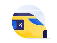 Schiphol Airport icon design: Train