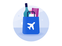 Schiphol Airport icon design: Shopping