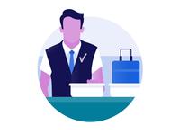 Schiphol Airport icon design: Security