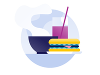 Schiphol Airport icon design: Restaurant