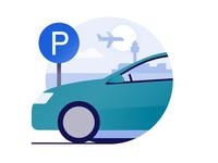 Schiphol Airport icon design: Parking
