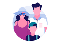 Schiphol Airport icon design: Family