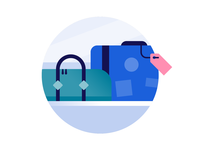 Schiphol Airport icon design: Luggage
