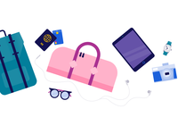 Schiphol Airport illustration: Lost and Found