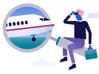 Schiphol Airport illustration: Arrive
