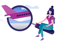Schiphol Airport illustration: Depart