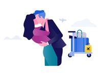 Schiphol Airport illustration: Hellogoodbye
