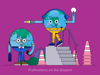 Globi: Professions on the Airport