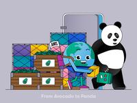 Globi: From Avocado to Panda