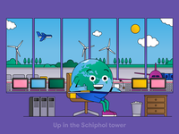 Globi: Up in the Schiphol tower