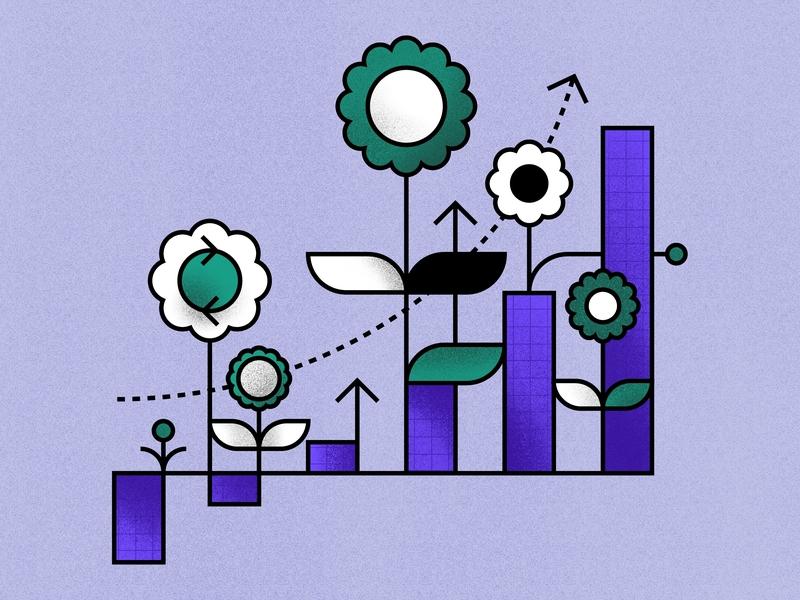 Grow dutch design campaign creative branding sketch storytelling concept procreate ipadpro artwork vector illustrator illustration sustainability sustainable purple green growth grow