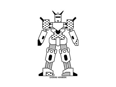 Transformer movie design pattern dots robot creative illustrator vector artwork drawing flatdesign illustration personal travel japan tokyo transformer