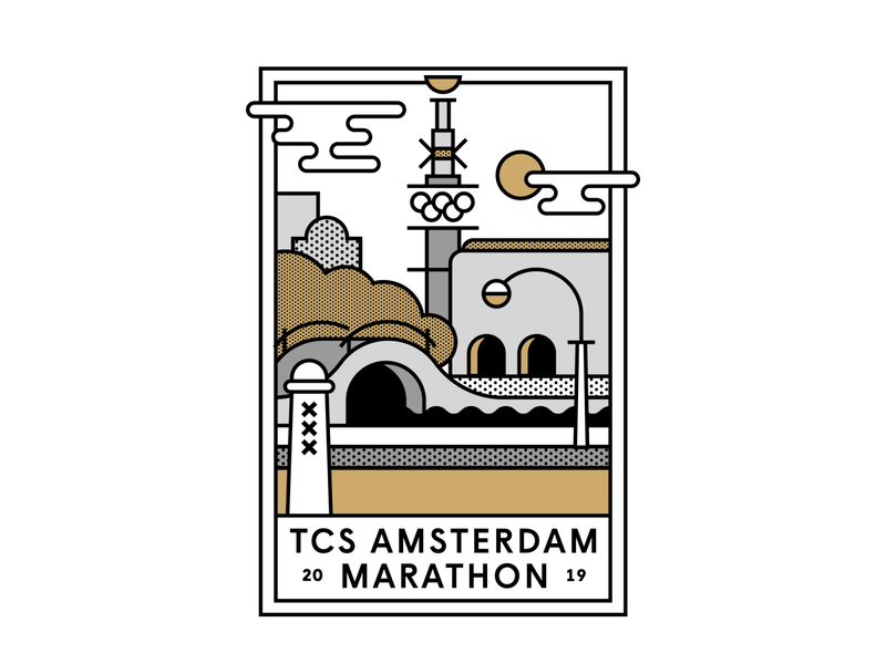Mizuno Merchandise for TCS Amsterdam Marathon running marathon brandidentity branding mizuno amsterdam merchandise campaign concept storytelling graphic design flatdesign drawing artwork vector illustrator illustration