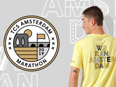Mizuno Merchandise for TCS Amsterdam Marathon mizuno amsterdam marathon running creative branding campaign storytelling graphic design flatdesign drawing vector artwork illustrator illustration