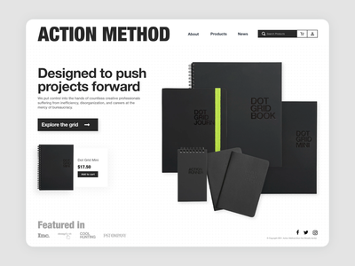 Action Method - Concept Art webdesign action method dot grid journal ui desktop design desktop concept specs