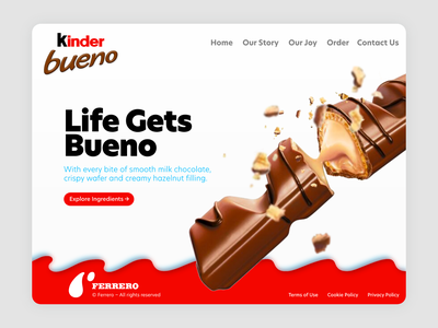 Kinder Bueno - Concept Art candy specs concept desktop desktop design ui chocolate webdesign kinder