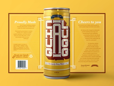 Chugg-A-Lugg Canned Water recycle chug alcohol label water beer can can