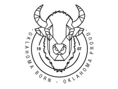 geometric bison head WIP