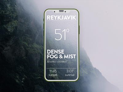 Weather App mist fog app iceland weather ux ui user interface