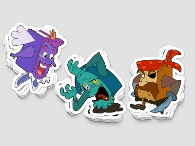 Pagemaster Stickers illustration illustration art sitcker books pagemaster horror adventure fantasy
