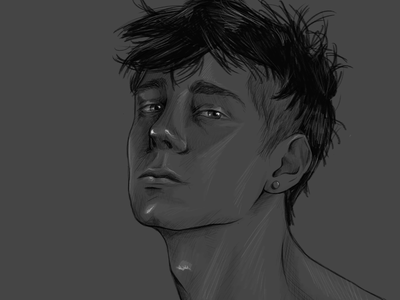 Niceguys character design character male monochrome guys portrait illustration