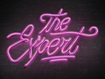 The Expert identity sign expert typography logotype type neon lights neon logo