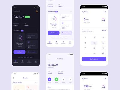 Fintech wallet dashboard ui dashboard bank wallet design color finance app ui ux