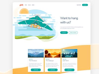 Glide Illustration Website Concept landing page branding app web illustration ux ui design