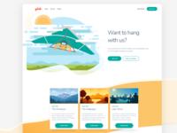 Glide Illustration Website Concept