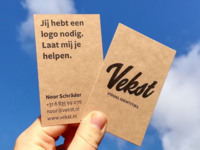 Businesscard design for Vekst