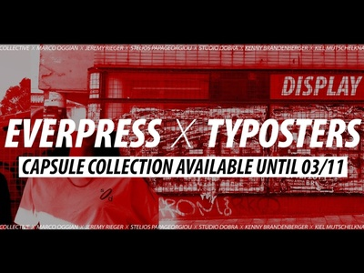 Display Type Capsule Collection Everpress X Typosters