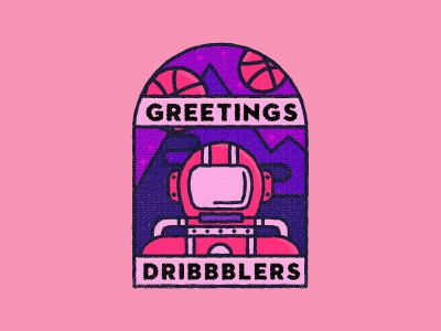 Greetings Dribbblers! vector astronaut first shot space