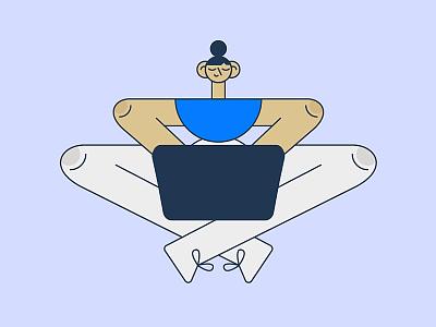 Zen Character creativity workspace zen geometric linework illustration character character illustration character design